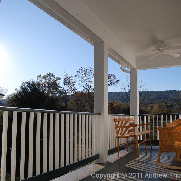 autumn sun on the porch