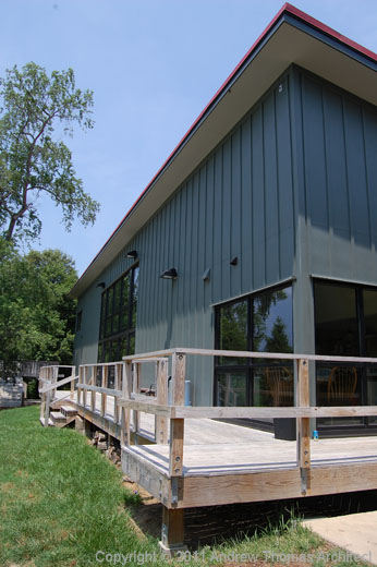deck off the work room and community hall -The Fine Arts Building project