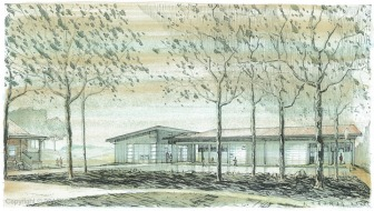perspective view -The Fine Arts Building project
