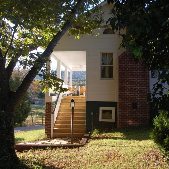 a lane with a porch stair -A House on a Lane project