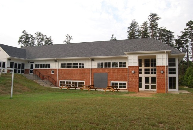 north side of the school -New Lower Campus project