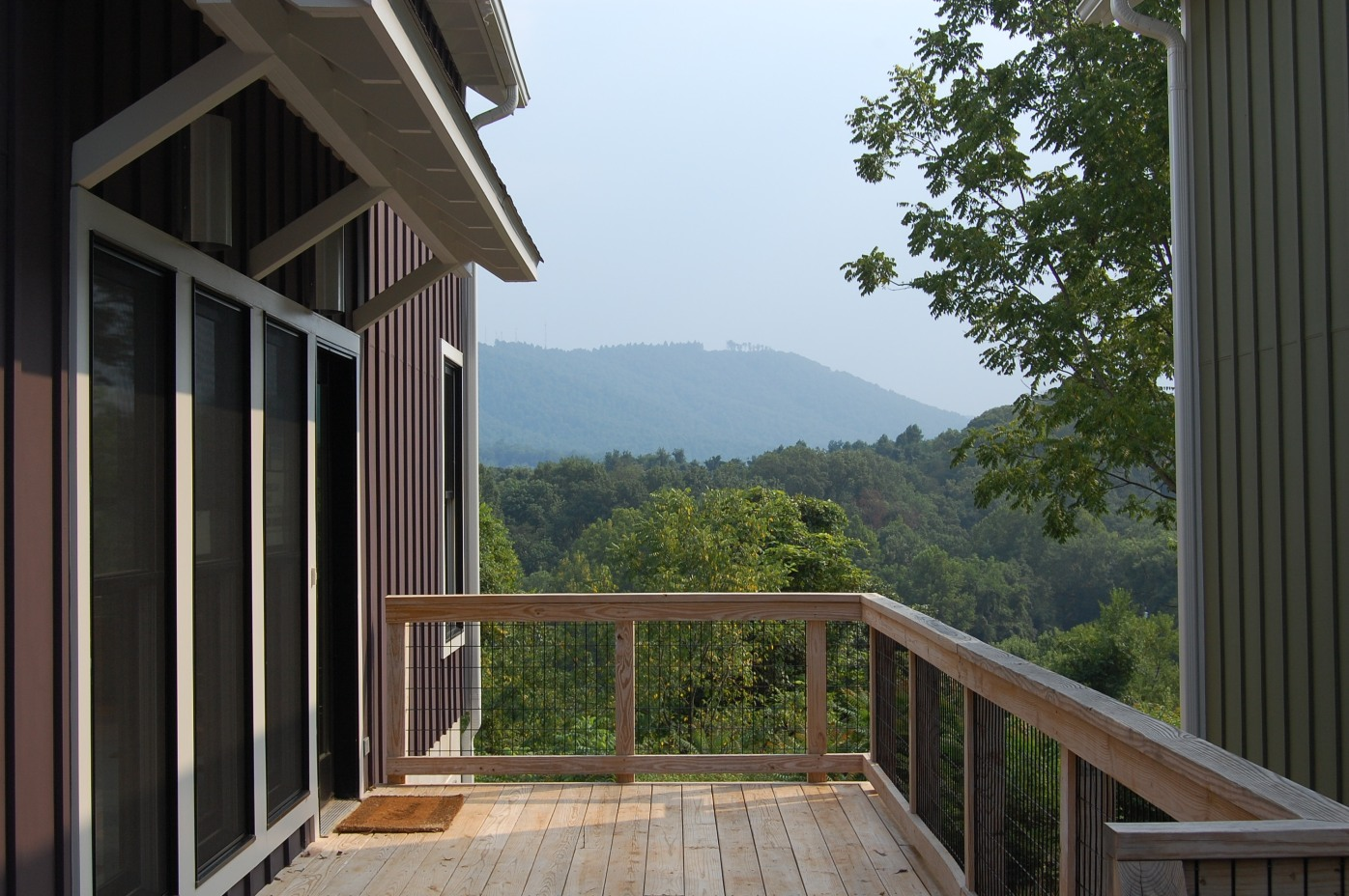 entry deck to one of the homes -The Neighborhood's Edge project