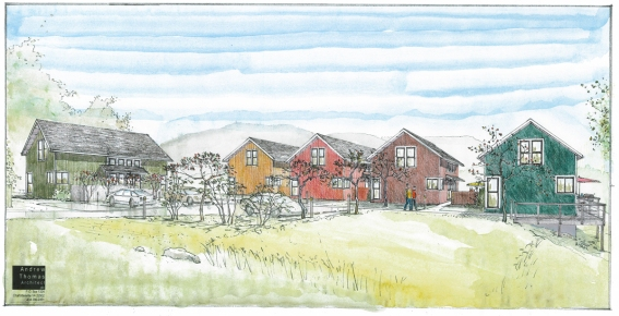 concept rendering of a grouping of new homes