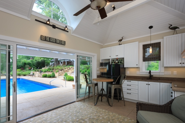 from inside the poolhouse -City Poolhouse project
