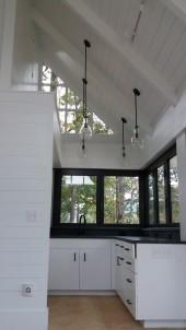 inside the cabana, the kitchenette -The Southwest Mountains Cabana project