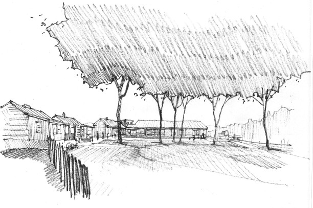sketch of the school