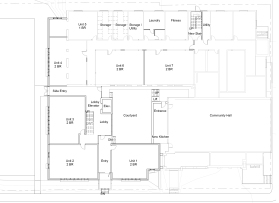 first floor plan-The Church Courtyard Apartments project