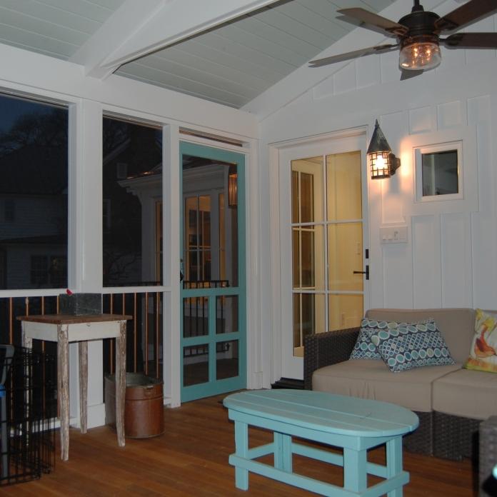 an outdoor space to enjoy a summer night