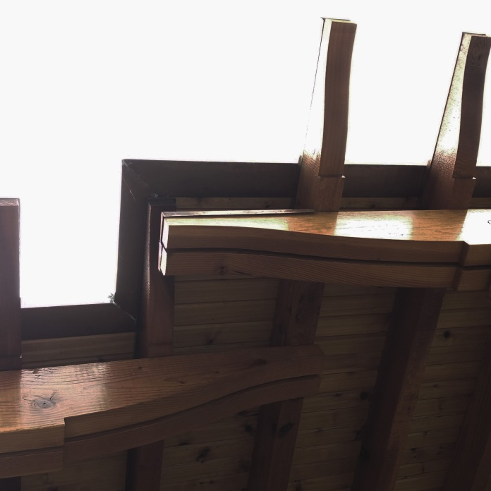 detail of the timber portico-The City Church Portico project