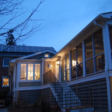 this north downtown home has a screen porch for the whole family-the Evergreen House Renovation & Addition project
