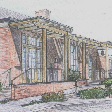 timber portico concept sketch--The City Church Portico project