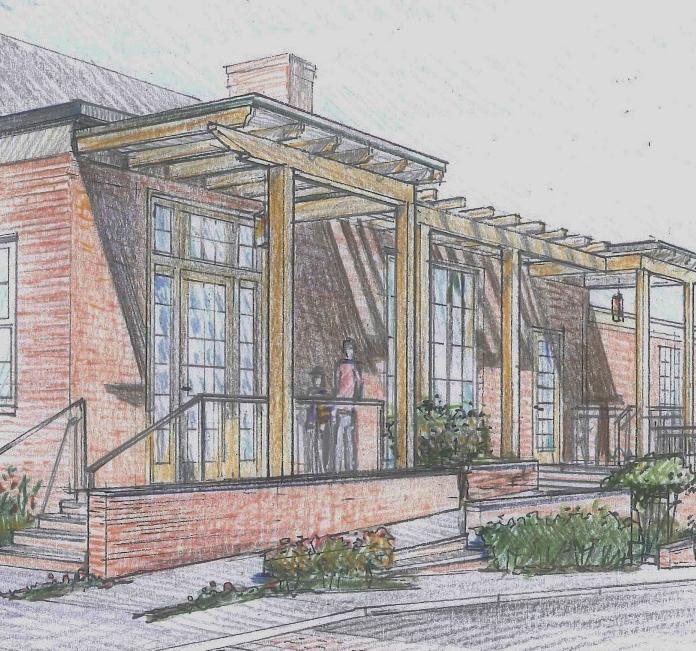 timber portico concept sketch
