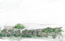 view from the west-The Garden Terraces Residences project