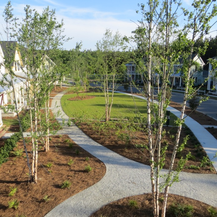 elbow park design, for a bend in the street -New Neighborhood landscapes