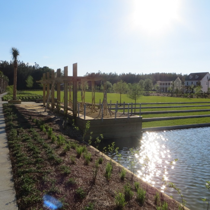 terraces in an otherwise low country -- neighborhood park design-New Neighborhood landscapes