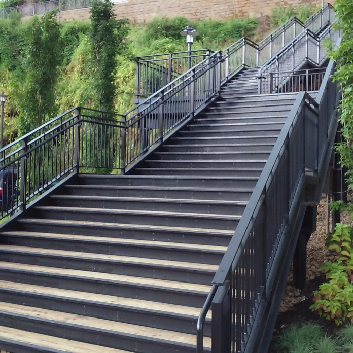 a stair to the bluff